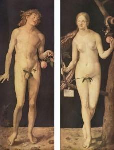 Adan y Eva de Durero, Museo del Prado (Madrid)